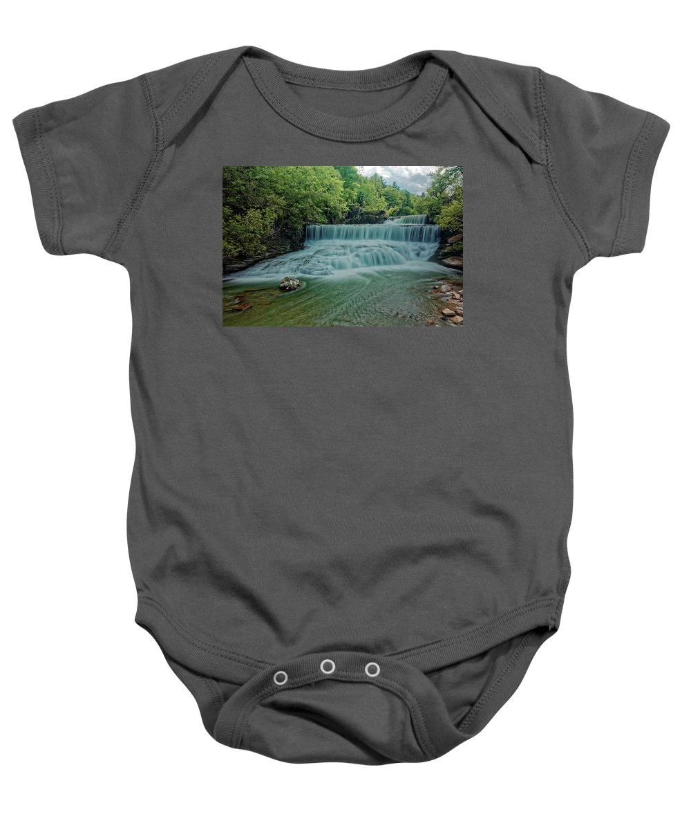 Seneca Mills Waterfall Baby Onesie featuring the photograph Seneca Mills Waterfall by Doolittle Photography and Art