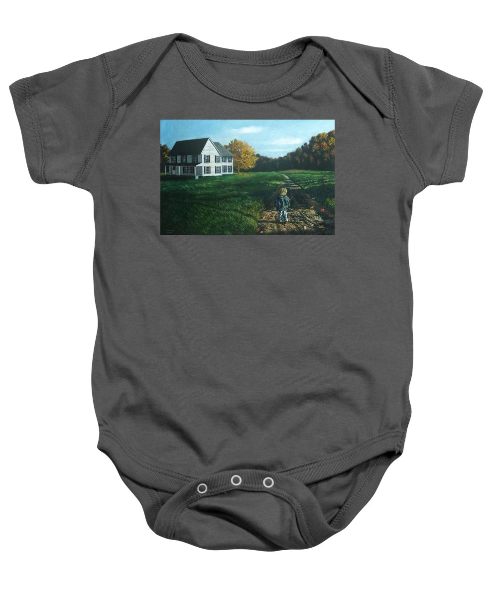 Pennsylvania Baby Onesie featuring the painting September Breeze Number 4 by Christopher Shellhammer