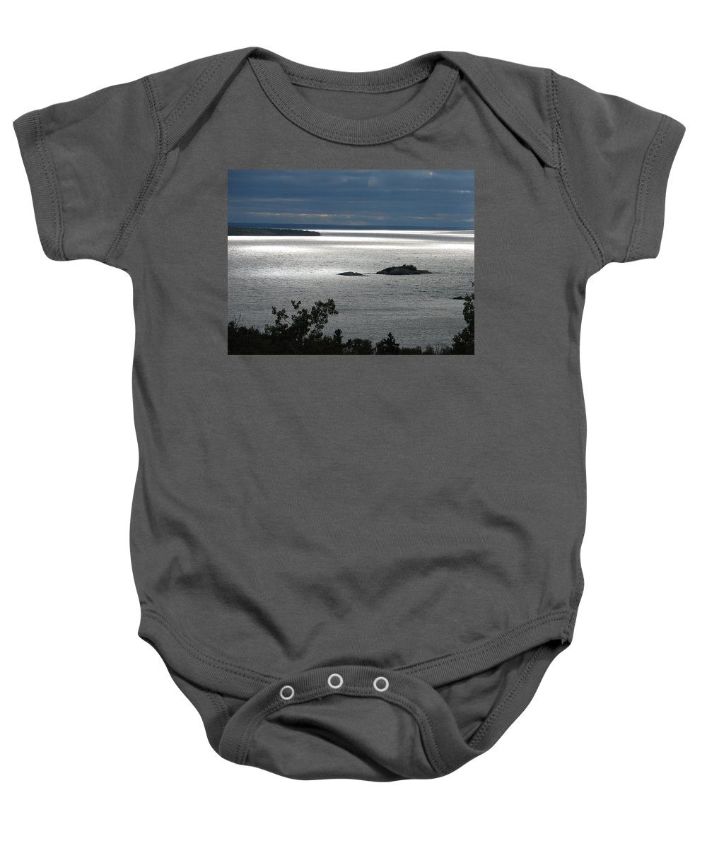 Lake Baby Onesie featuring the photograph Serenity by Kelly Mezzapelle