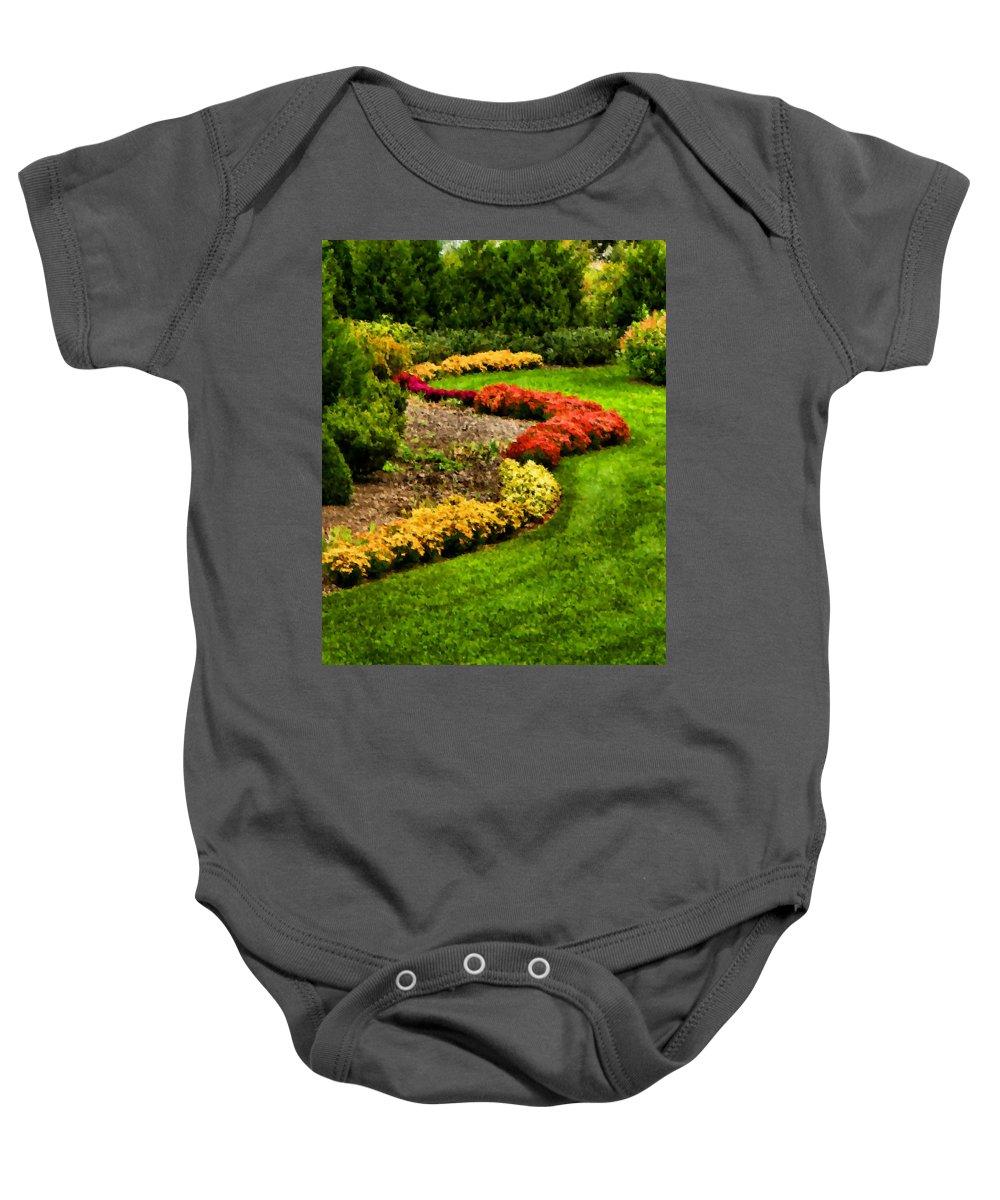 Garden Baby Onesie featuring the digital art Serpentine by Kristin Elmquist