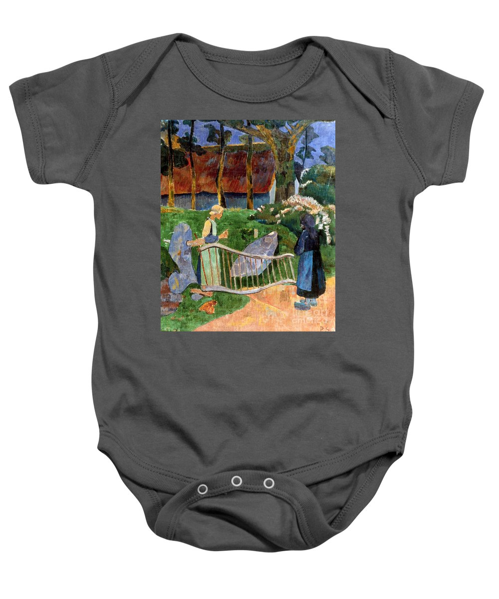 1889 Baby Onesie featuring the photograph Serusier: Barriere, 1889 by Granger