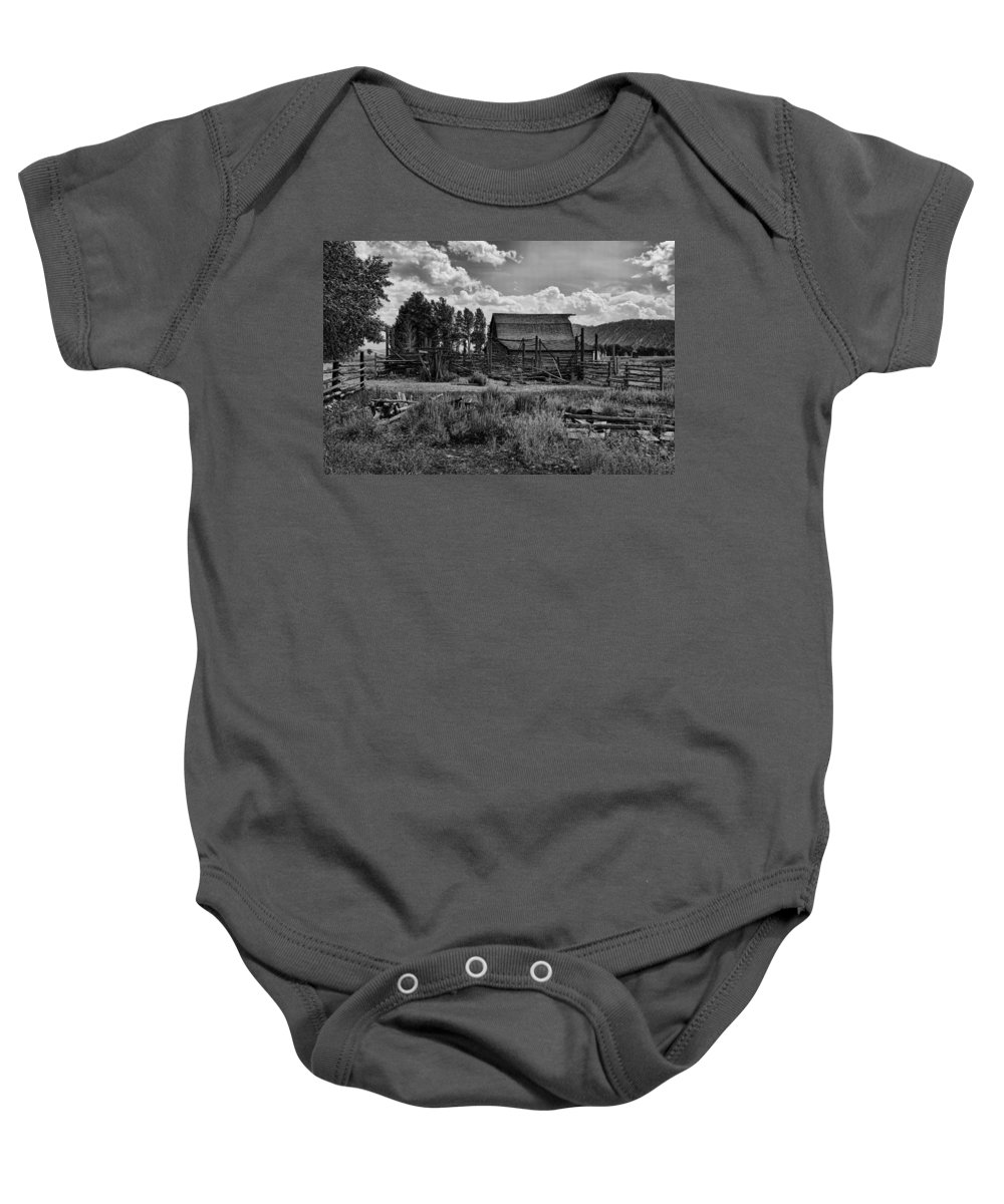Barn Baby Onesie featuring the photograph Settler's Barn by Hugh Smith