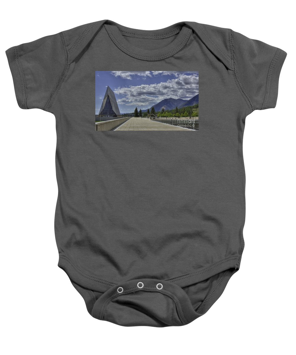 United States Air Force Academy Baby Onesie featuring the photograph Seventeen Spires by David Bearden