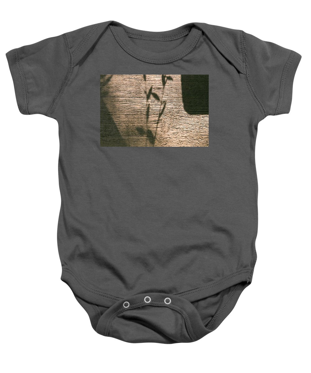 Baby Onesie featuring the photograph Shadow by Clayton Bruster