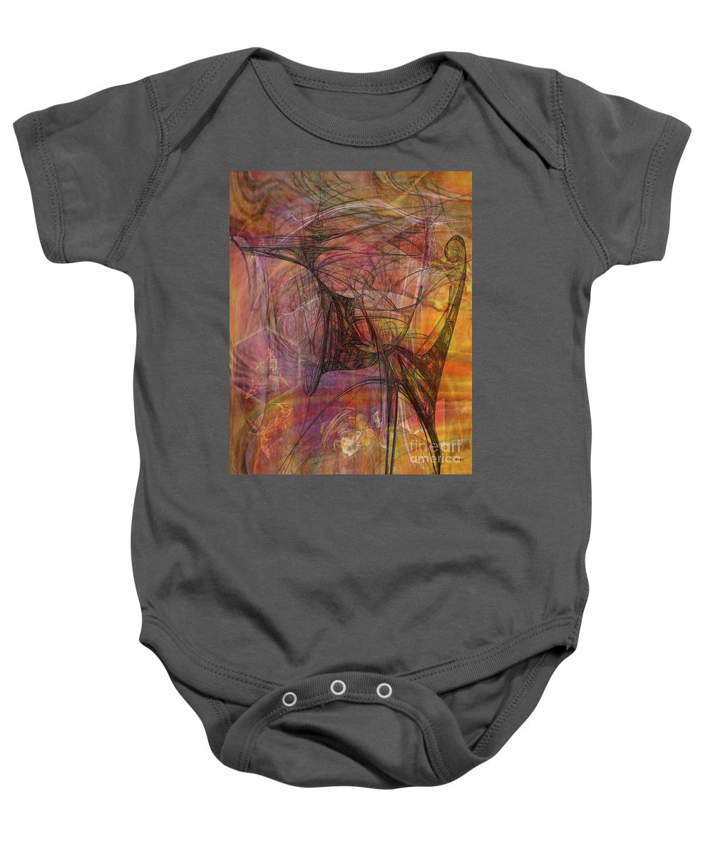 Shadow Dragon Baby Onesie featuring the digital art Shadow Dragon by John Beck
