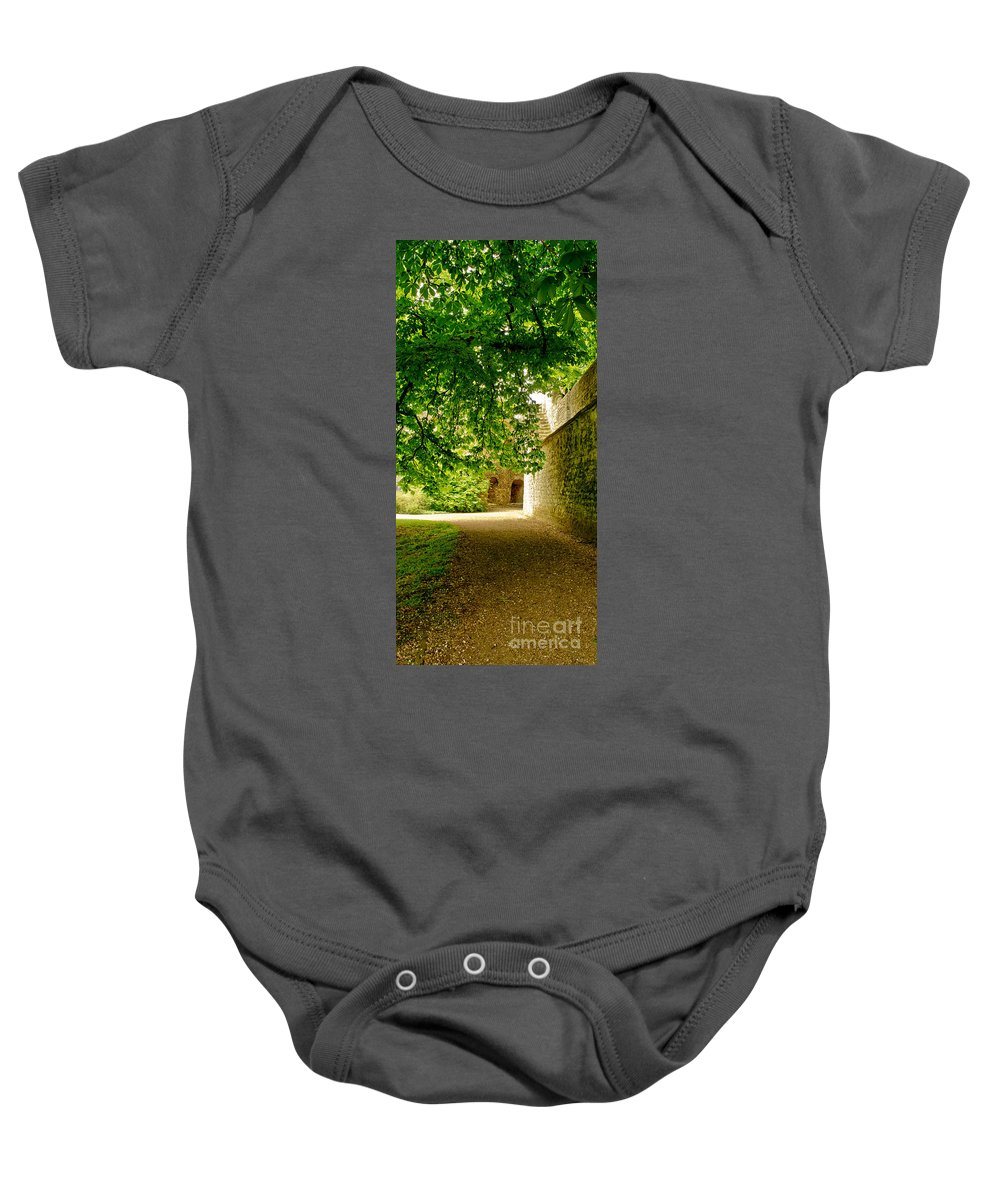 Alley Baby Onesie featuring the photograph Shadowy Alley. by Elena Perelman
