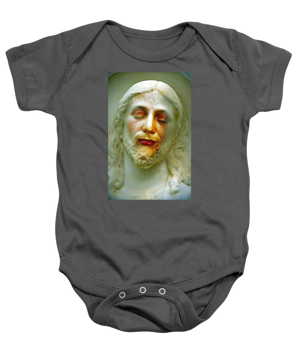 Jesus Baby Onesie featuring the photograph Shesus by Skip Hunt