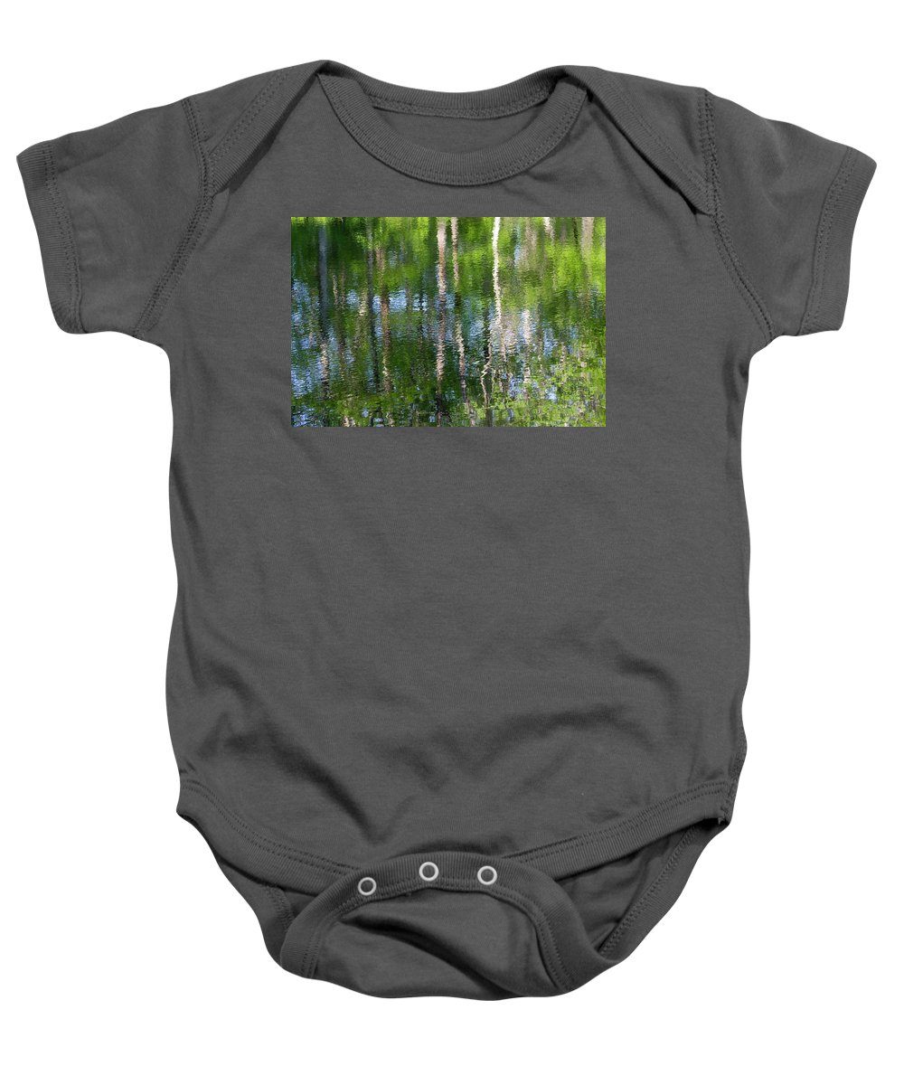 Water Baby Onesie featuring the photograph Shimmering Reflection by Marvin Averett