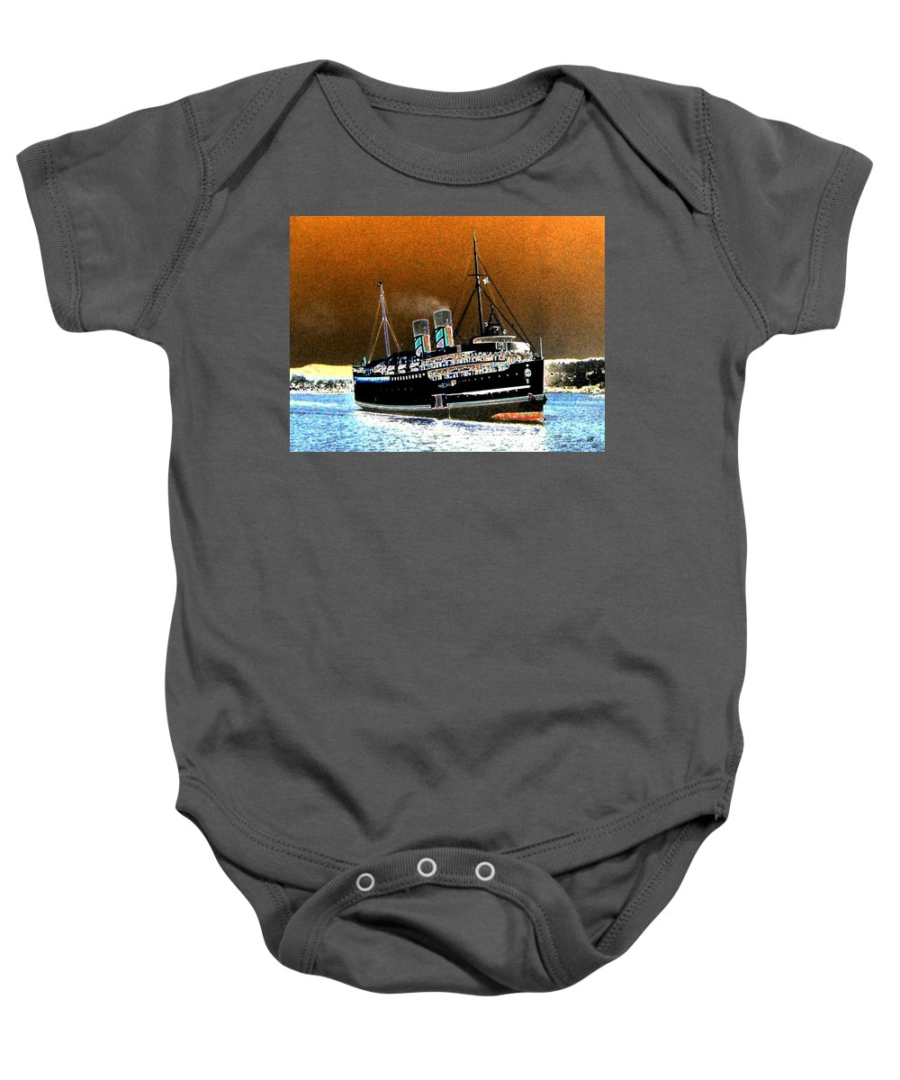 Princess Marguerite Baby Onesie featuring the digital art Shipshape 4 by Will Borden