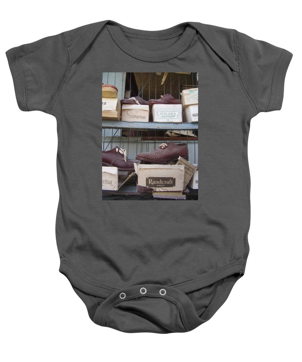 Shoes Baby Onesie featuring the photograph Shoes by Flavia Westerwelle