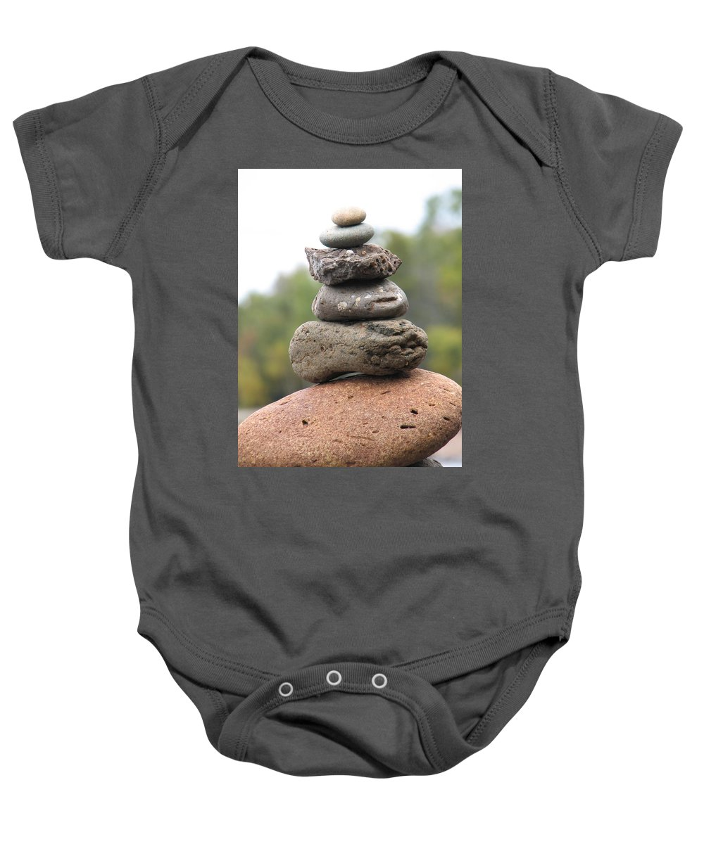 Rocks Baby Onesie featuring the photograph Short Stack by Kelly Mezzapelle