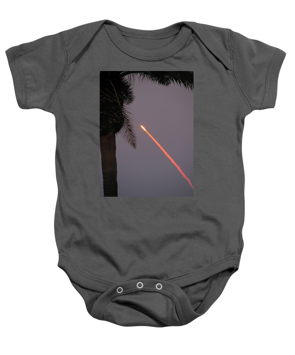 Space Baby Onesie featuring the photograph Shuttle by Peg Urban