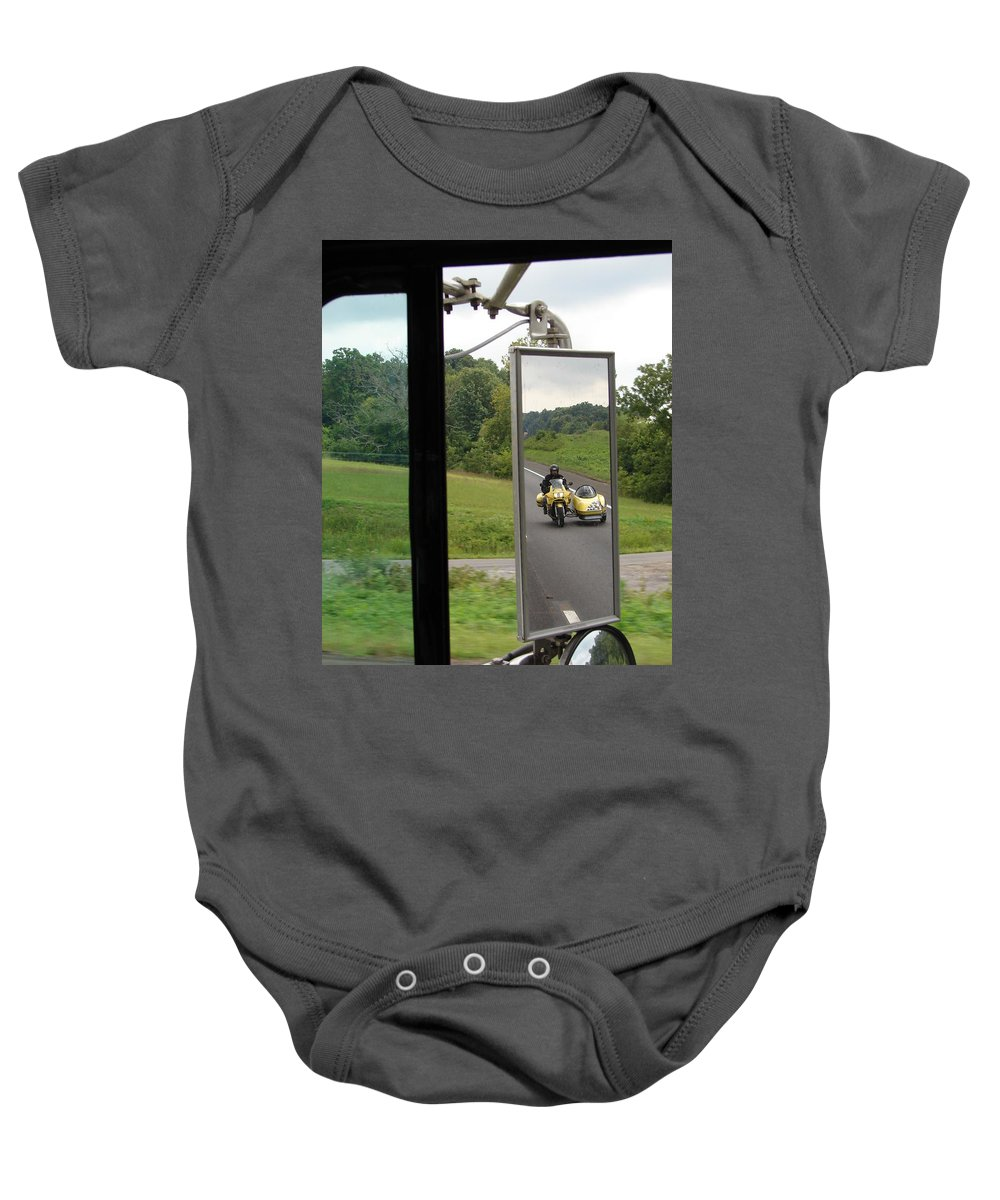Truck Baby Onesie featuring the photograph Side Car Framed by J R  Seymour