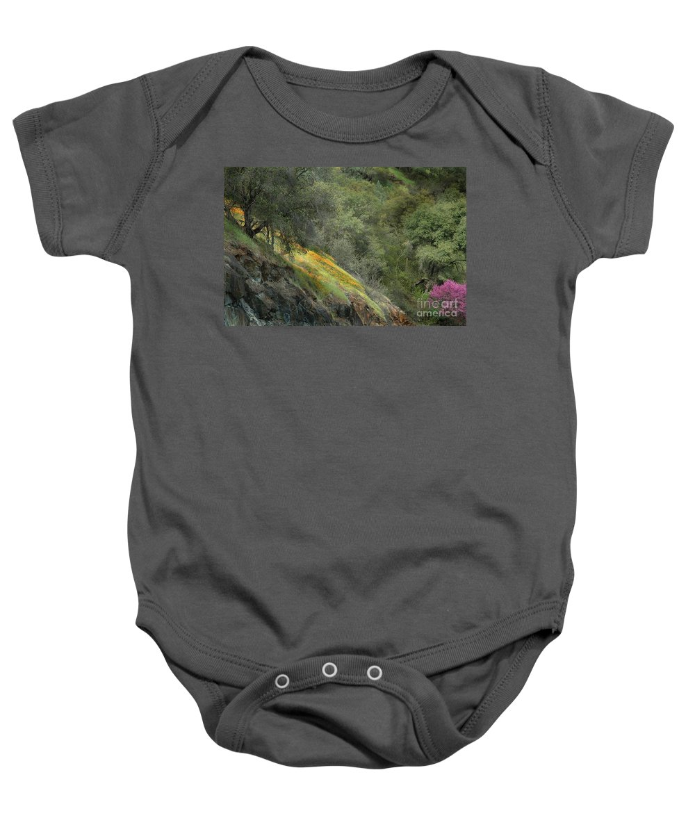 California Baby Onesie featuring the photograph Sierra Poppies by Norman Andrus