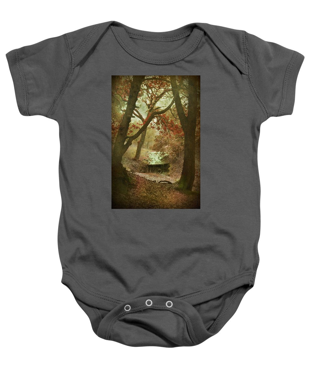 Stream Baby Onesie featuring the photograph Sighs Of Love by Laurie Search