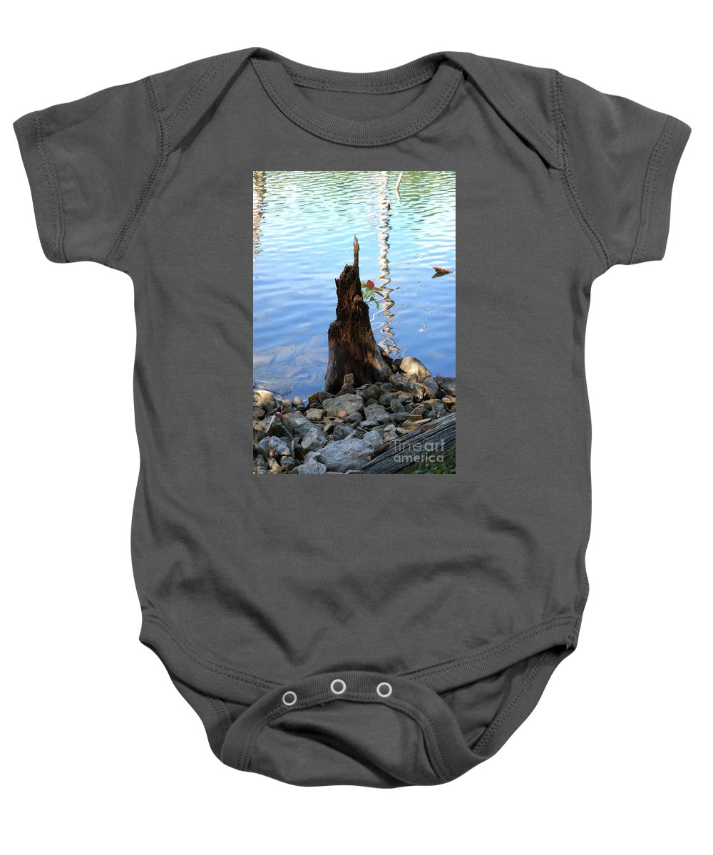 Water Baby Onesie featuring the photograph Sign Of Life by Lori Tambakis
