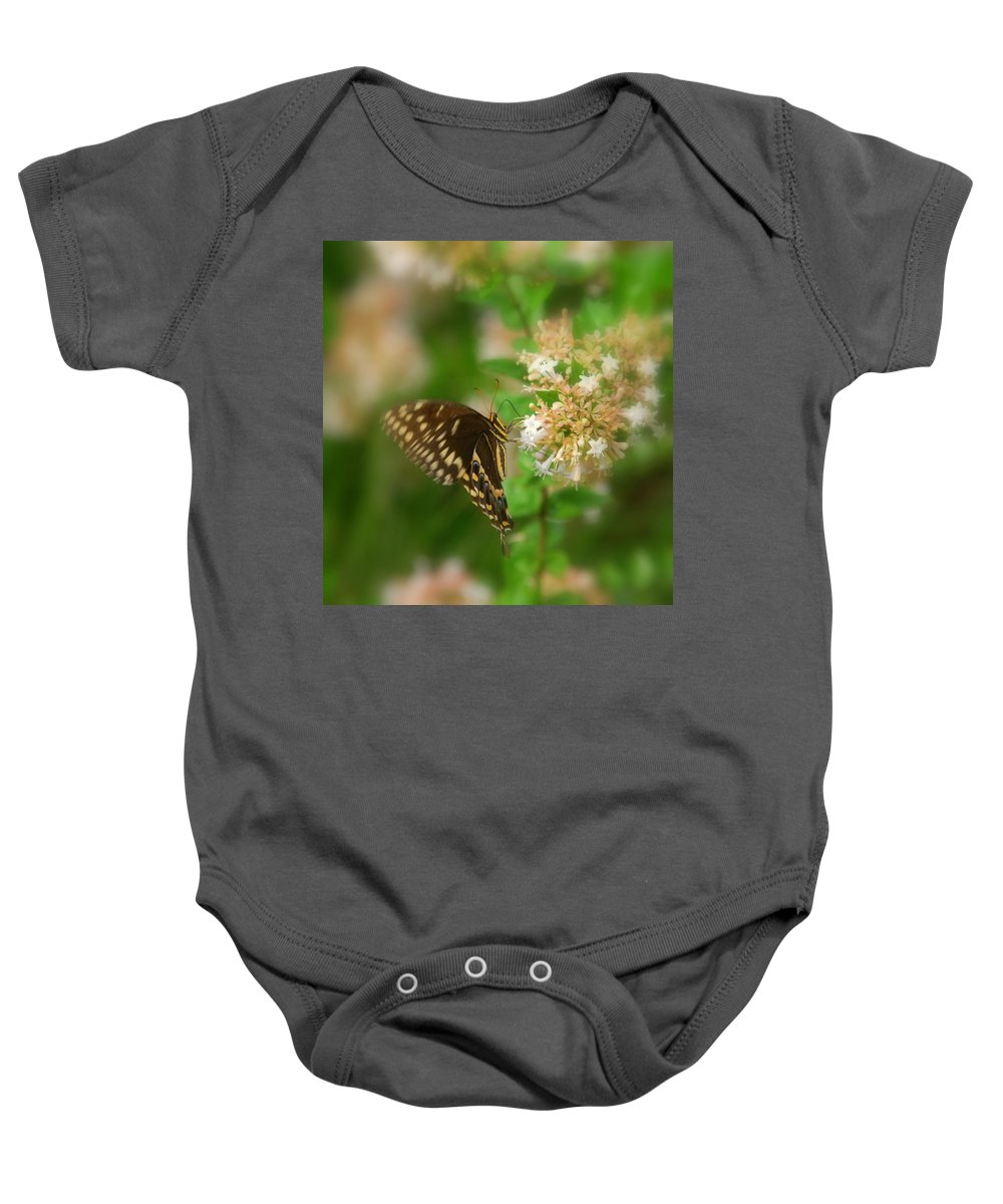 Sign Of Spring Baby Onesie featuring the photograph Sign Of Spring by Susanne Van Hulst