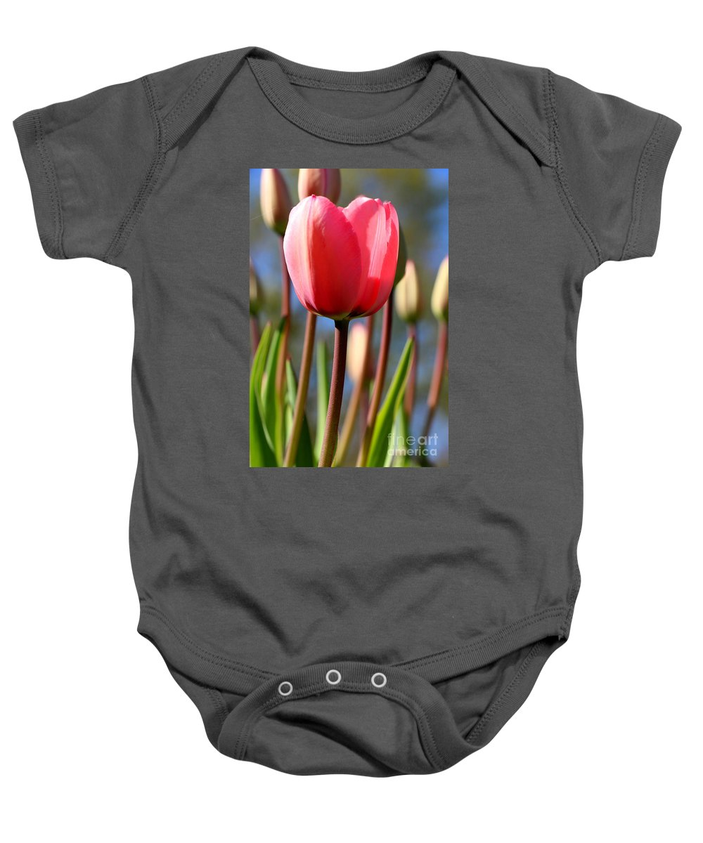 Tulip Baby Onesie featuring the photograph Signs Of Spring by Neal Eslinger