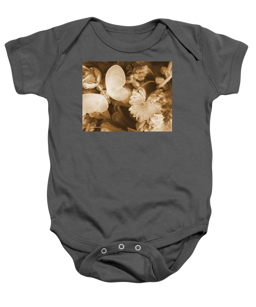 Photography Enhanced Baby Onesie featuring the photograph Silent Transformation Of Existence by Shelley Jones