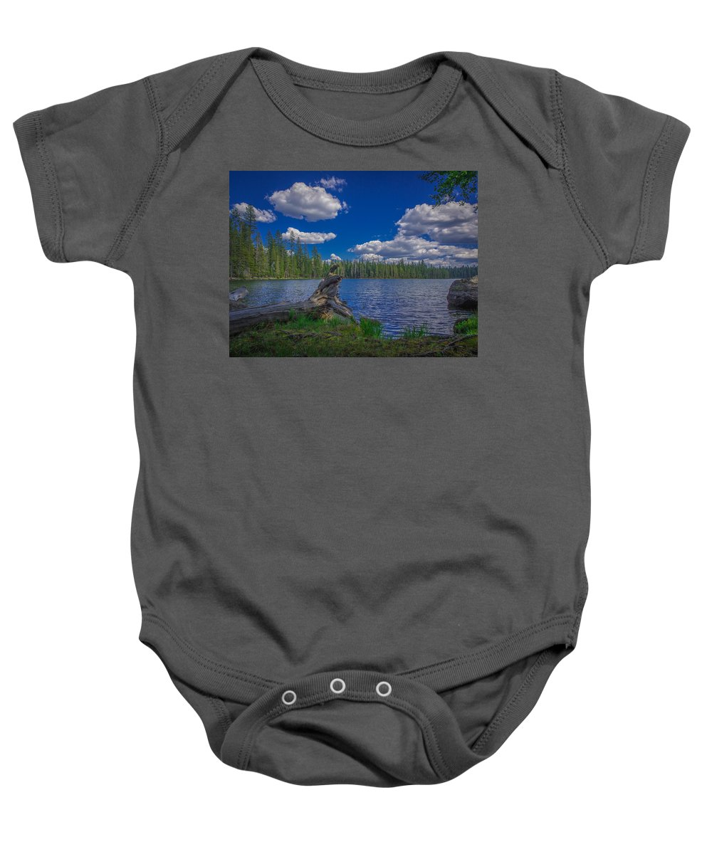 Beautiful Baby Onesie featuring the photograph Silver Lake by Michele James