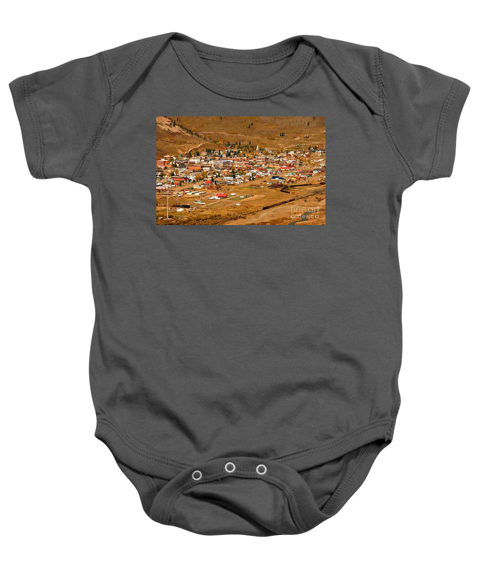 Silverton Colorado Baby Onesie featuring the photograph Silverton by David Lee Thompson