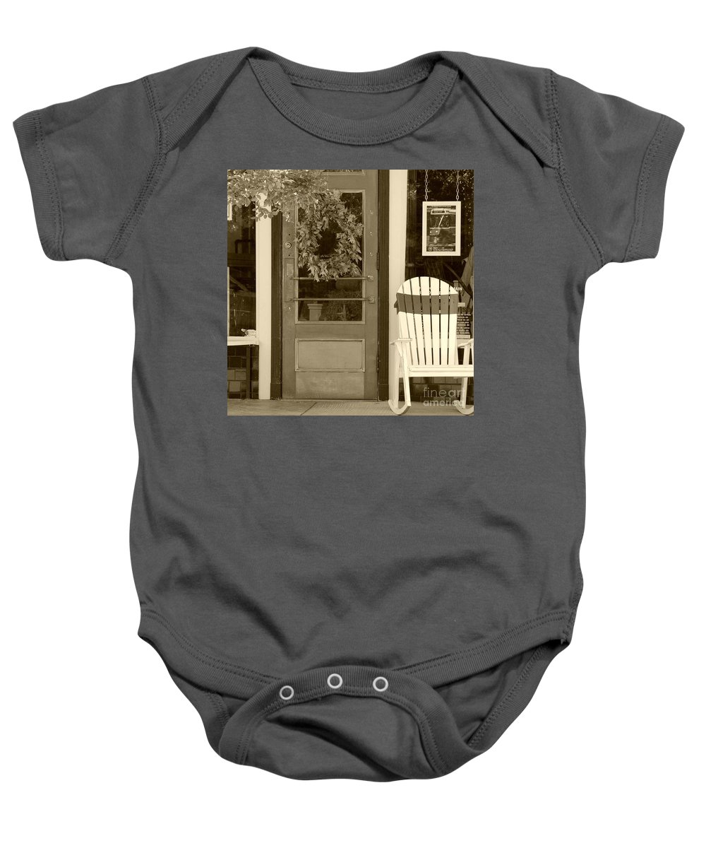 Rocking Chair Baby Onesie featuring the photograph Simple Times by Debbi Granruth