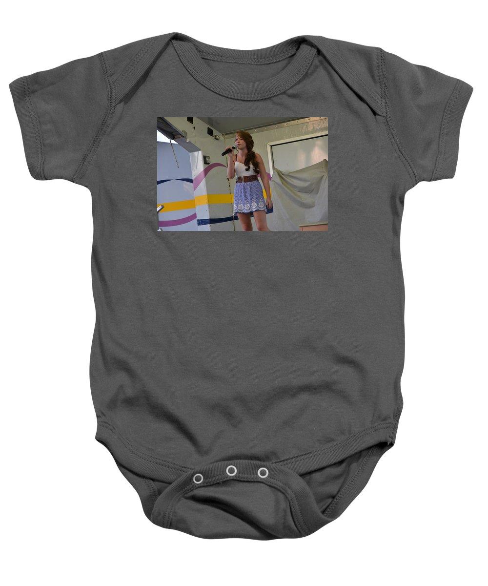 Baby Onesie featuring the photograph Singer # 20b by Randall Branham