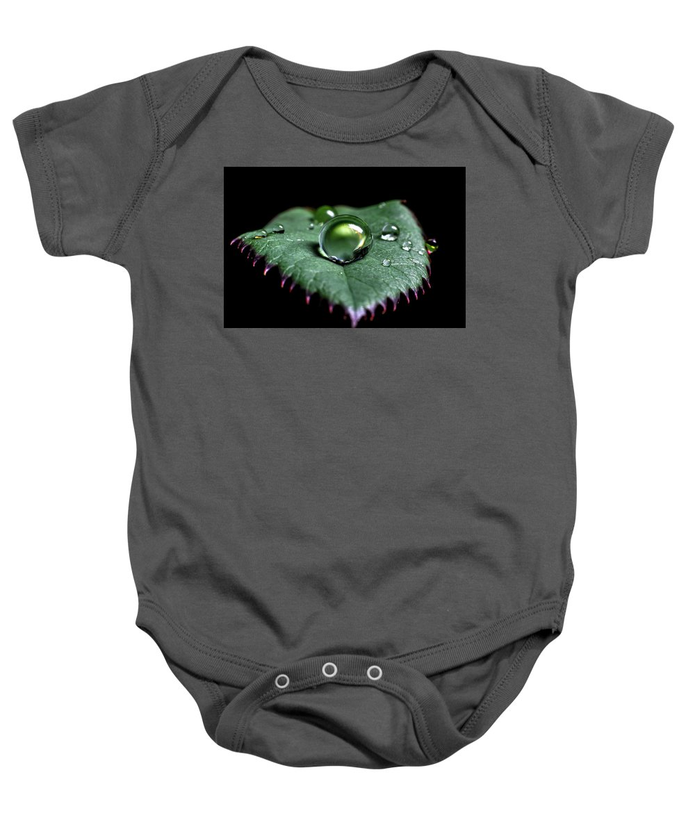 Abstract Baby Onesie featuring the digital art Single Drop by Gary Ellis