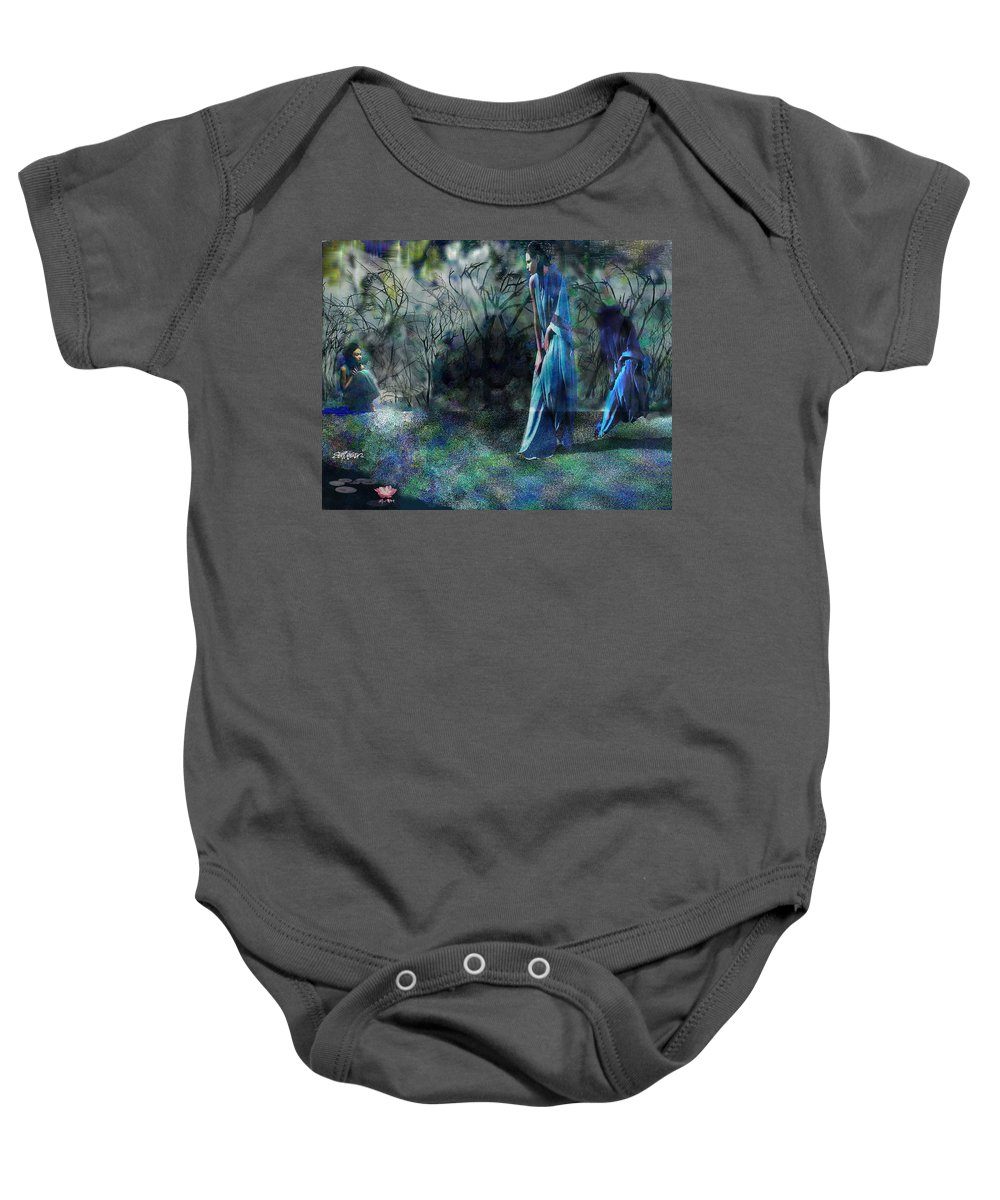 Sisters Of Fate Baby Onesie featuring the photograph Sisters Of Fate by Seth Weaver