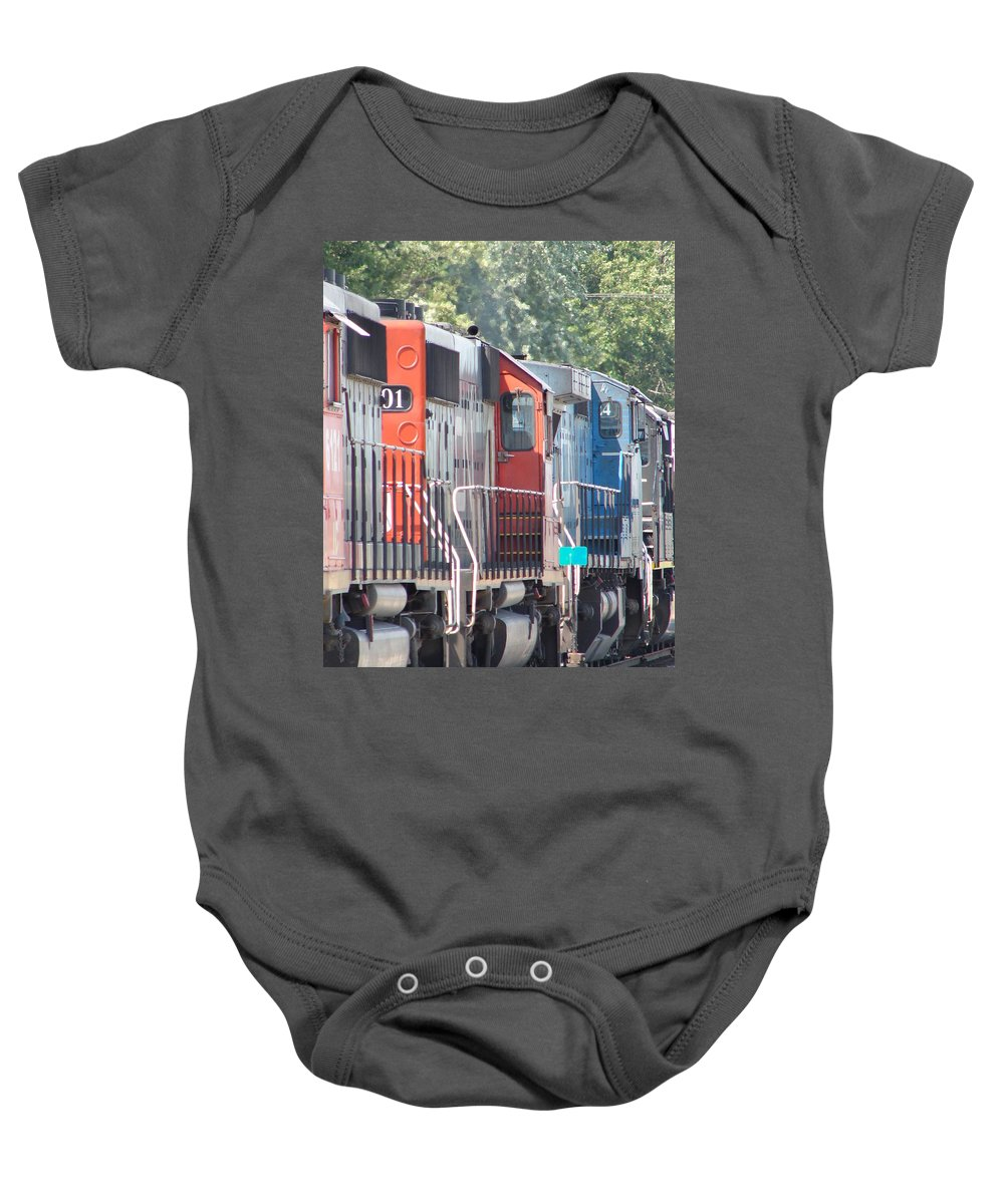 Baby Onesie featuring the photograph Sitting In The Switching Yard by J R  Seymour
