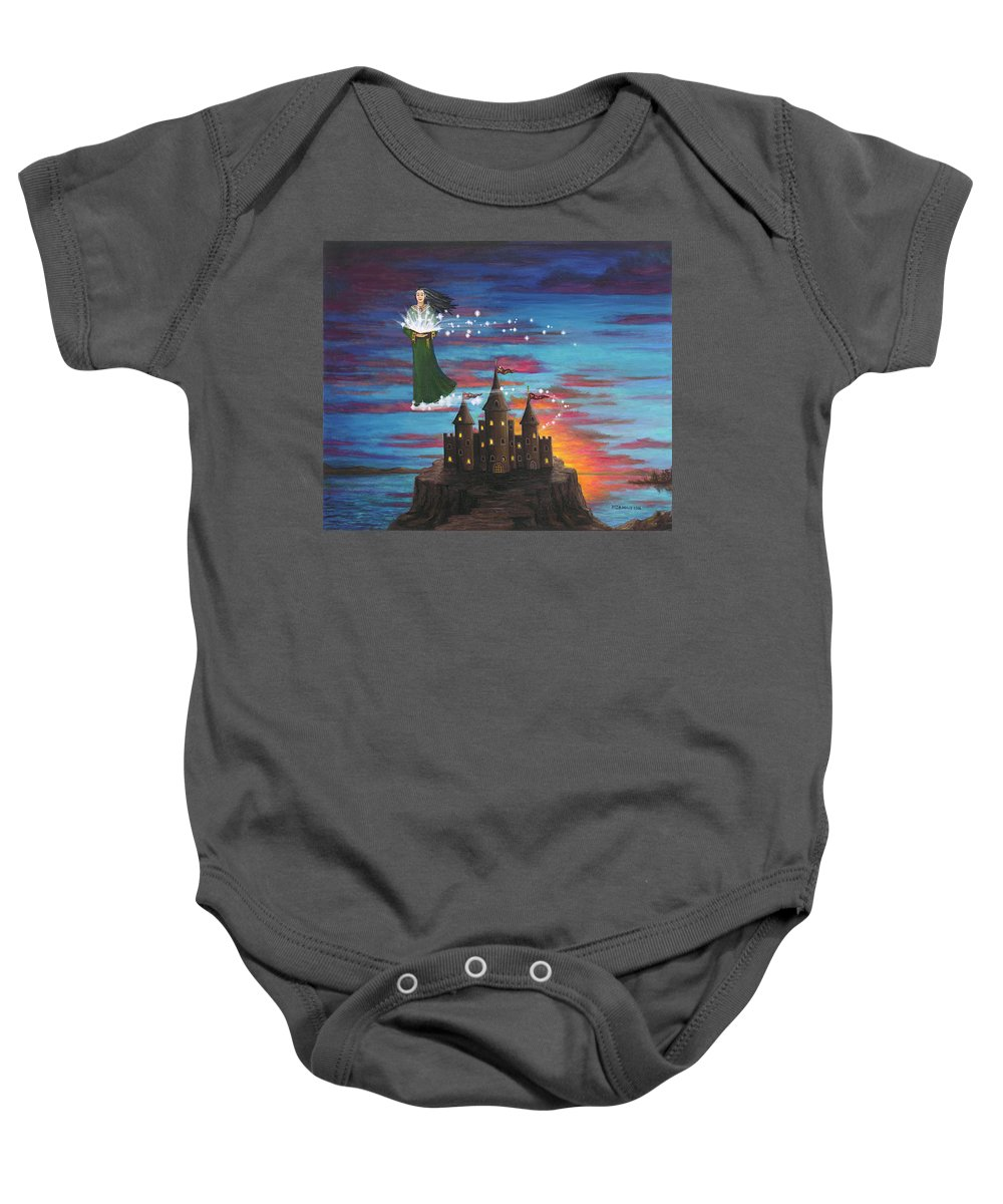 Wizard Baby Onesie featuring the digital art Sky Walker by Roz Eve