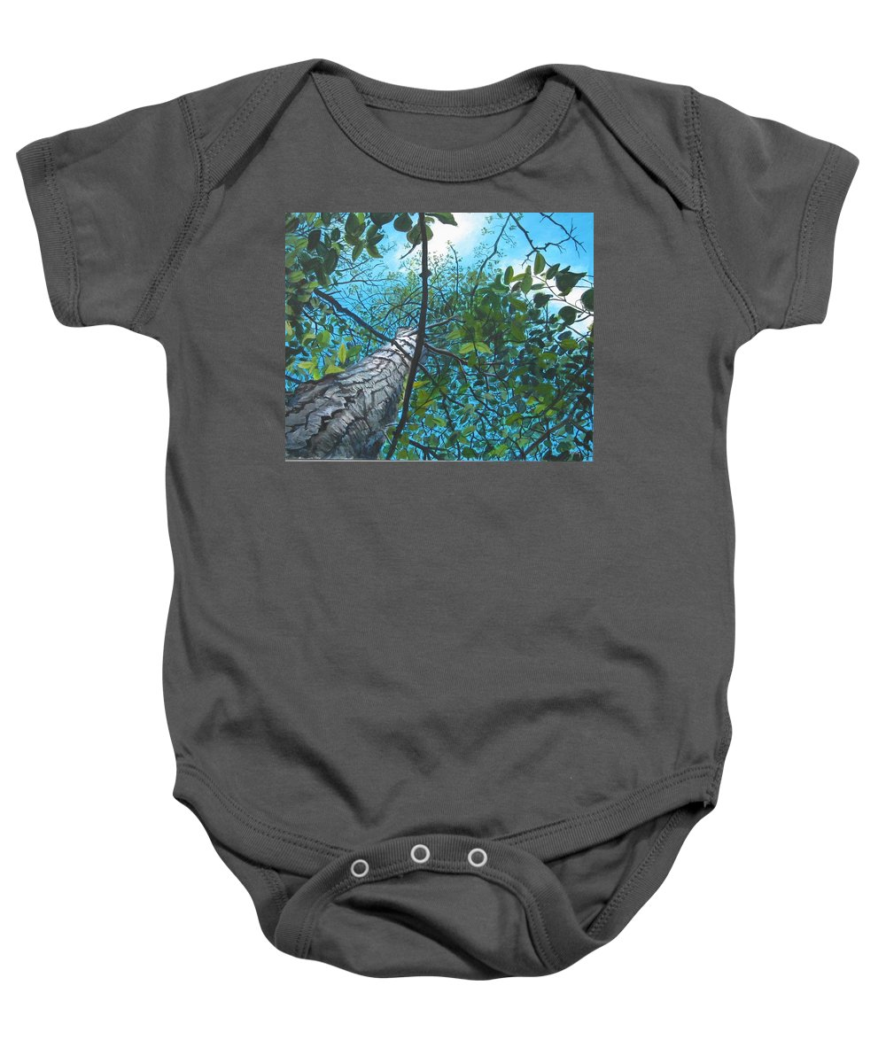 Landscape Baby Onesie featuring the painting Skyward by William Brody