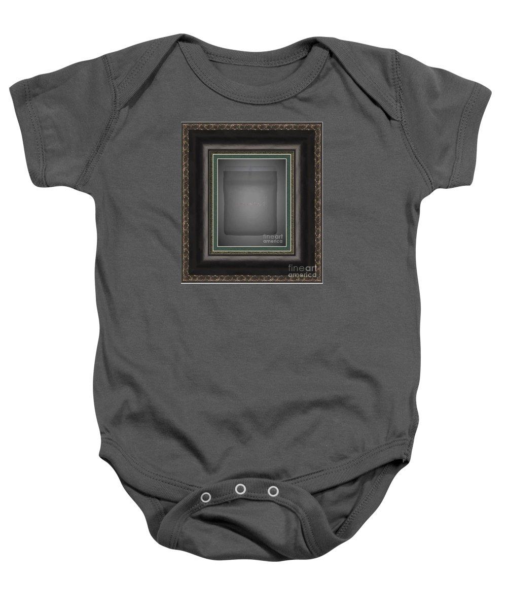 Sleep Watermark Baby Onesie featuring the digital art Sleep Watermark by Contemporary Luxury Fine Art