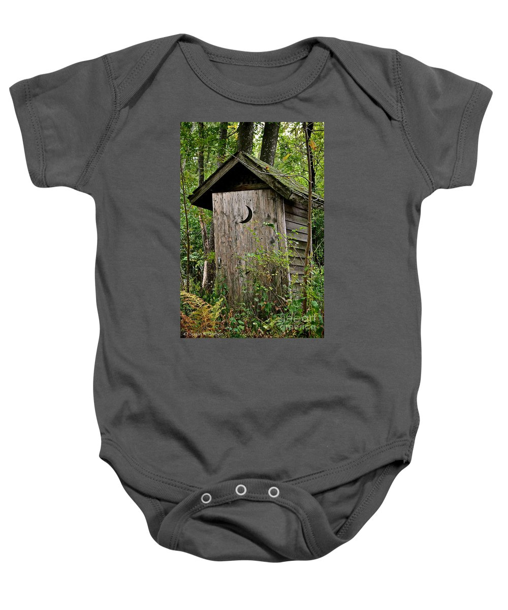 Outdoors Baby Onesie featuring the photograph Sliding Downhill by Susan Herber