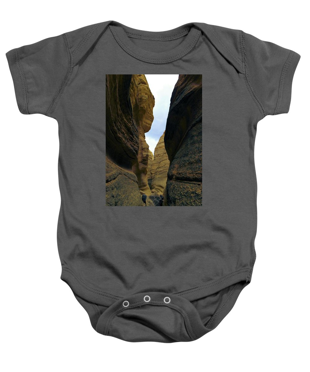 Slot Canyon Baby Onesie featuring the photograph Slot Canyon Within The Tent Rocks by Jeff Swan