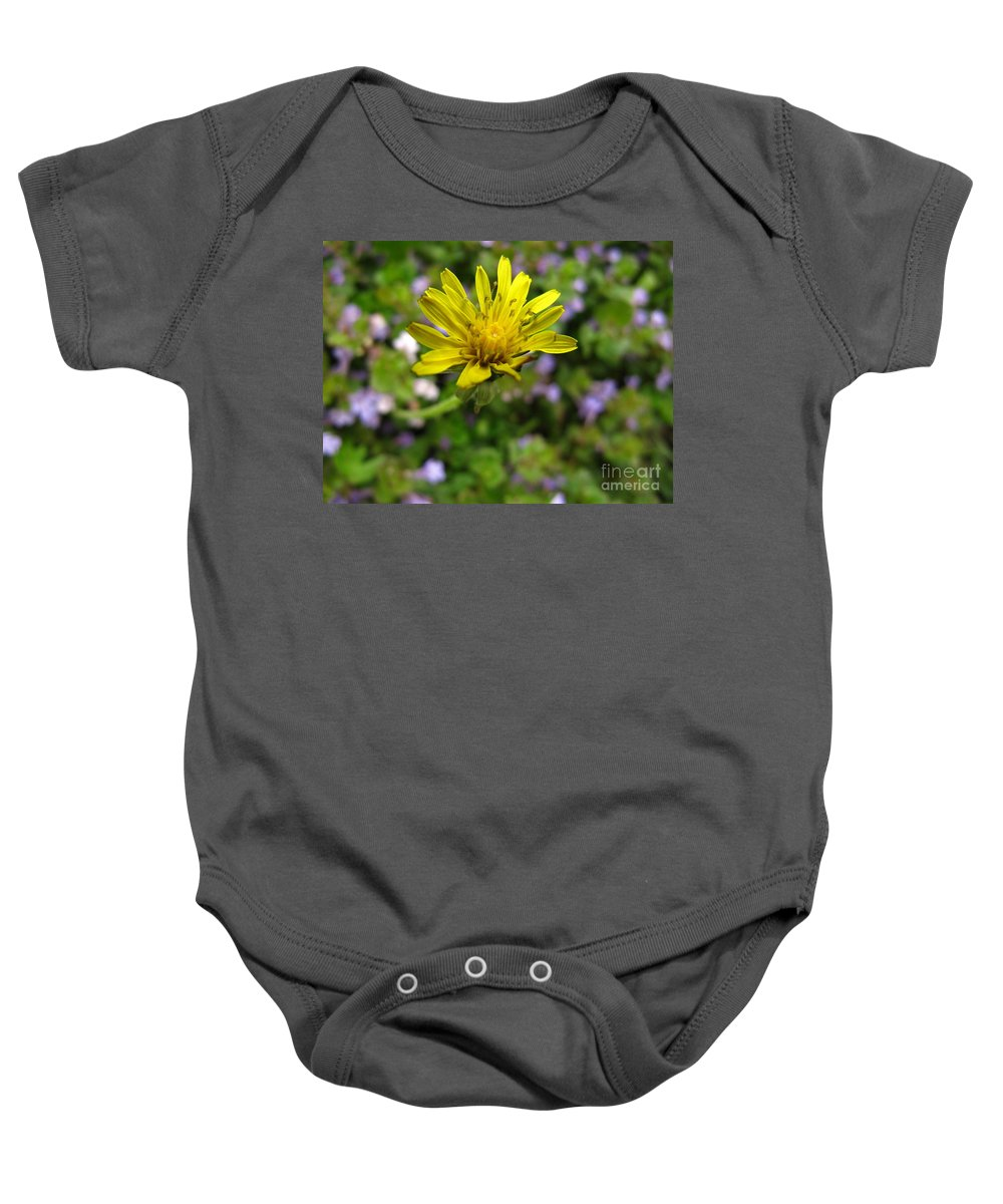 Dandelion Baby Onesie featuring the photograph Smell Me-please by Lisa Knauff
