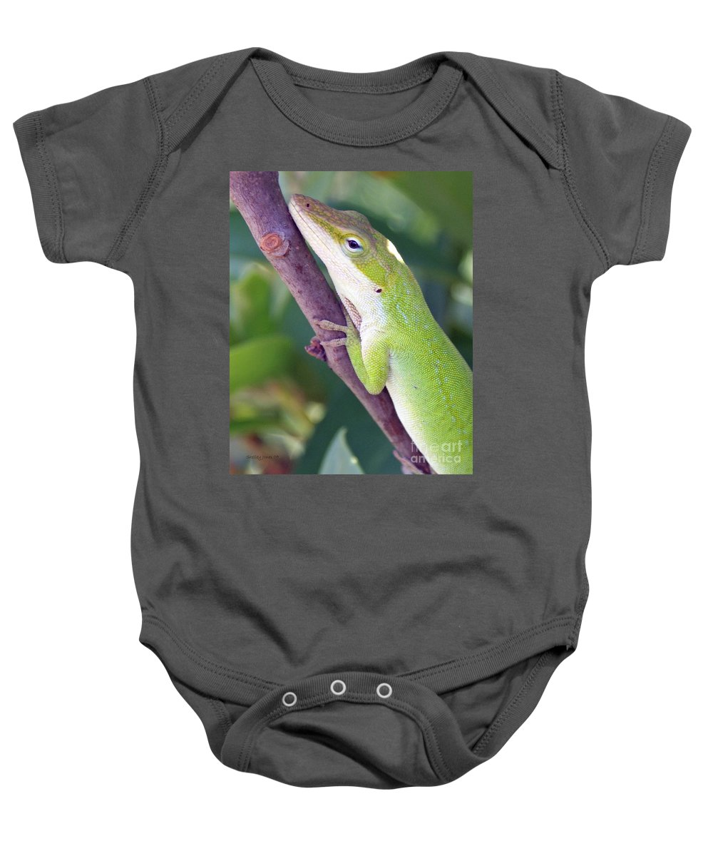 Animal Baby Onesie featuring the photograph Smile by Shelley Jones