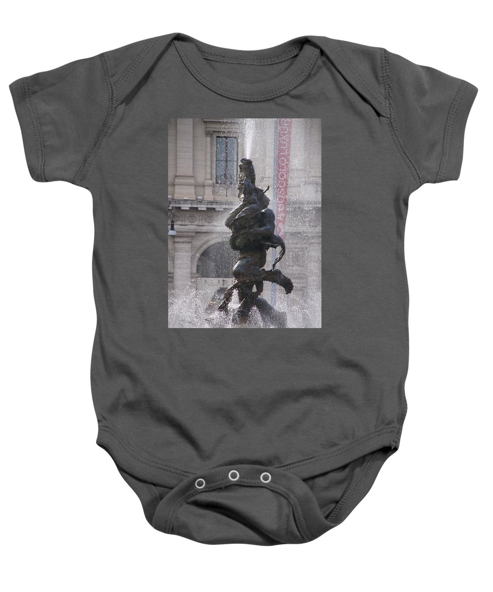 Fountain Baby Onesie featuring the photograph Snake Fountain by Nicole Dunkelberger