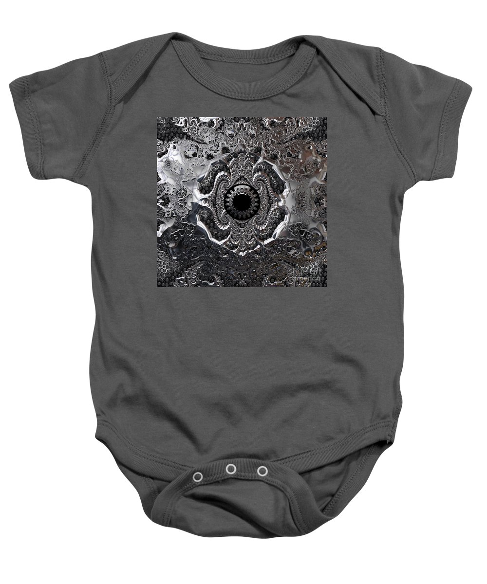 Silver Baby Onesie featuring the digital art Snow Angels- by Robert Orinski