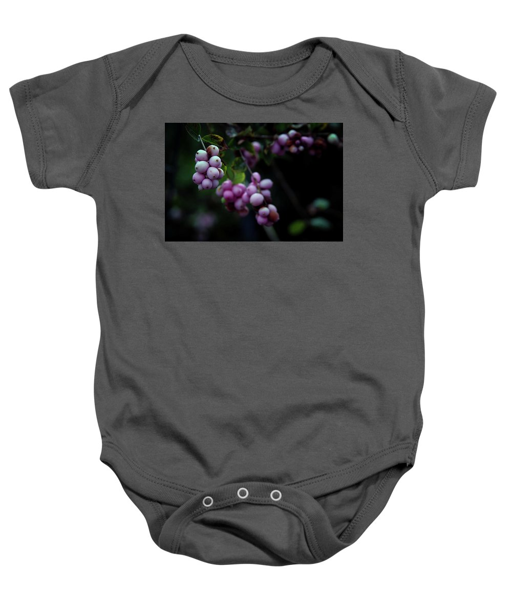 Snowberry Baby Onesie featuring the photograph Snowberry 5191 H_2 by Steven Ward