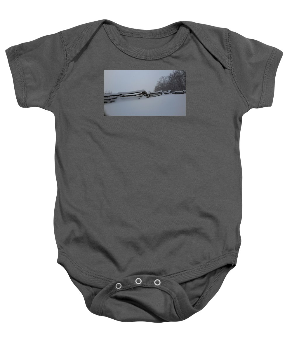 Snow Baby Onesie featuring the photograph Snowed In by Joe D Dry