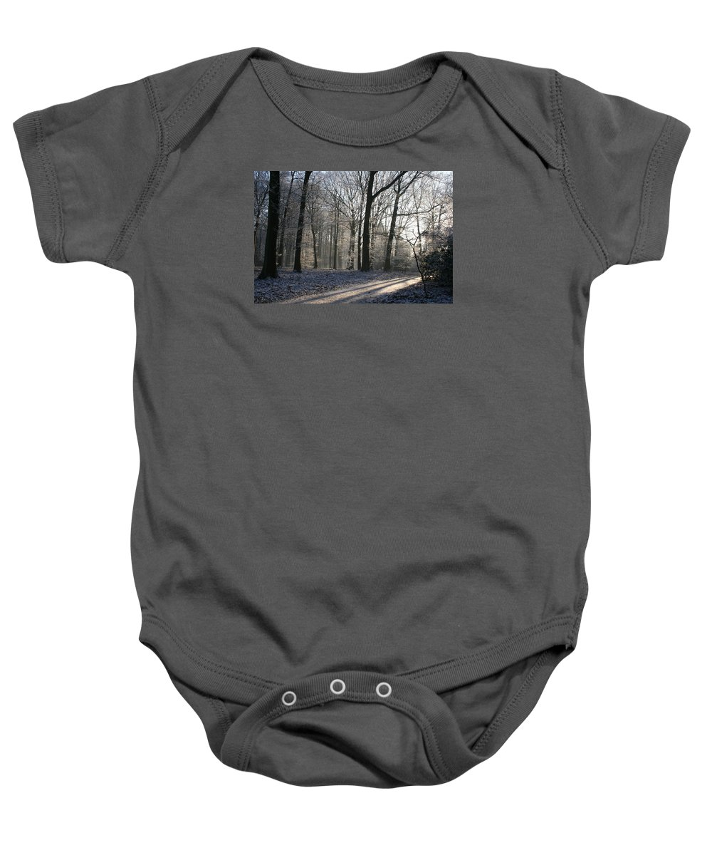 Light Baby Onesie featuring the photograph Mystical Winter Landscape by Christiane Schulze Art And Photography
