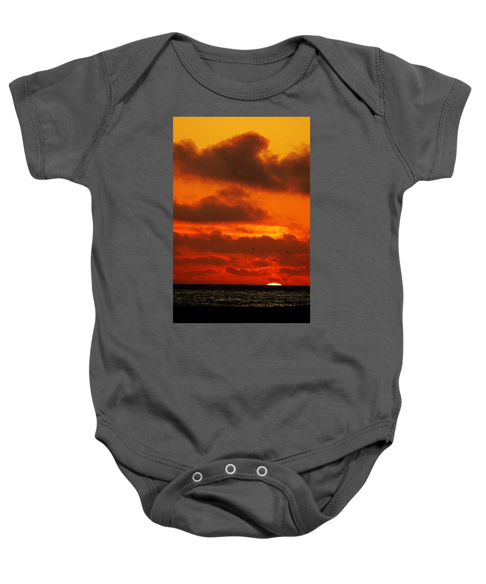 Clay Baby Onesie featuring the photograph Socal Sunset by Clayton Bruster