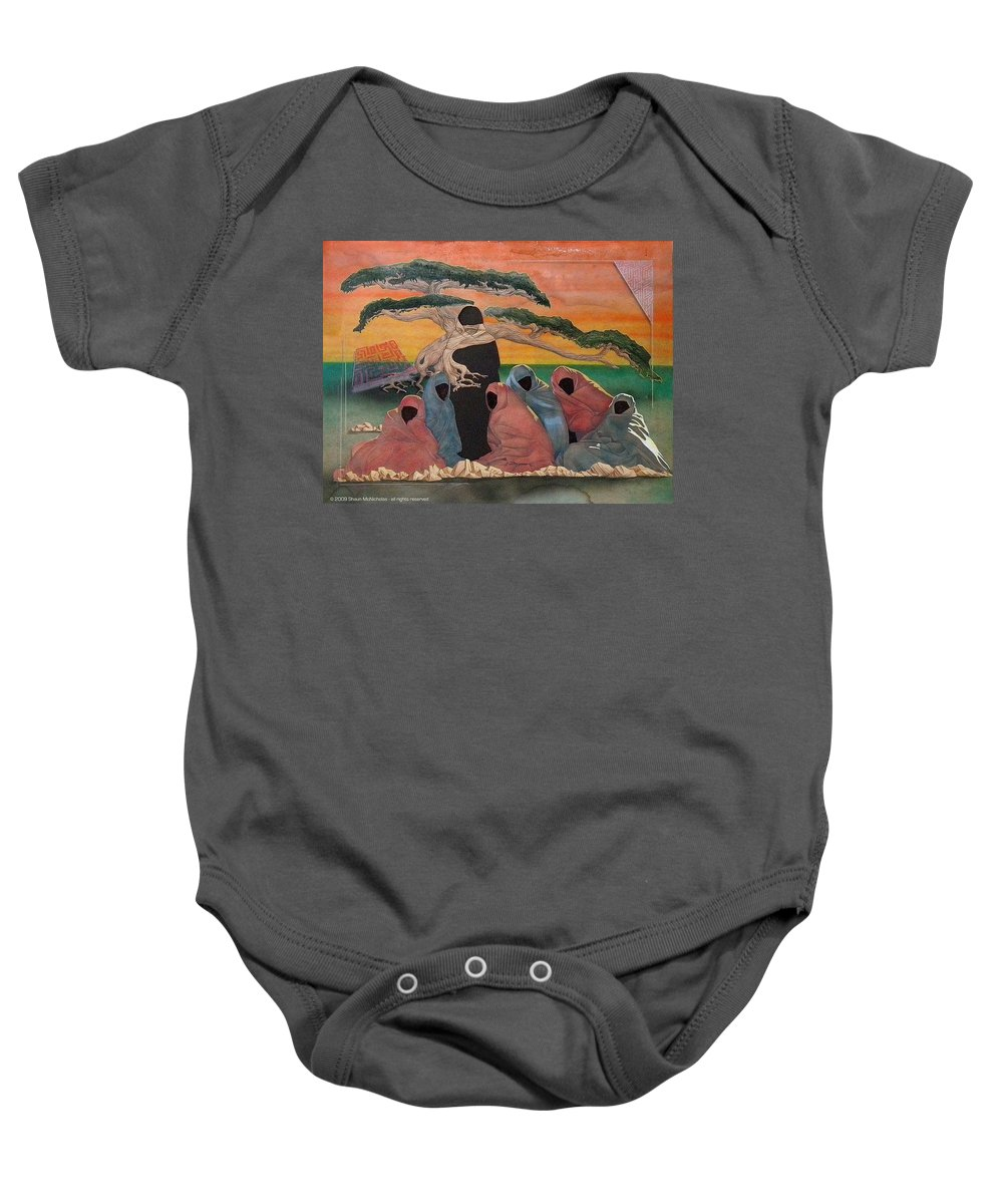 Middle East Baby Onesie featuring the painting Social Perception by Shaun McNicholas