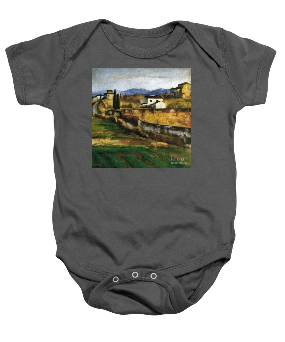 1922 Baby Onesie featuring the photograph Soffici: Hill, 1922 by Granger