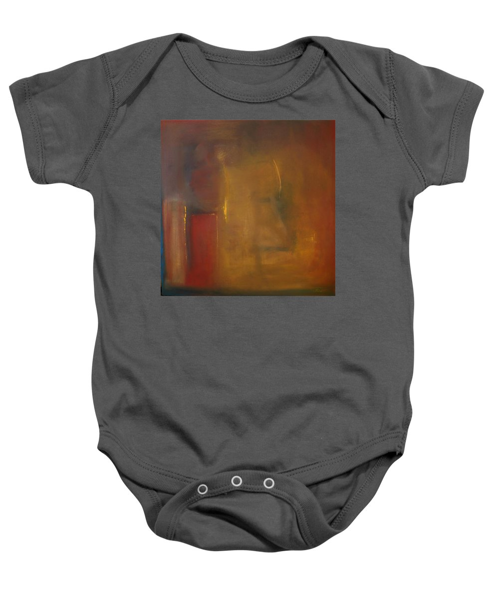 Baby Onesie featuring the painting Softly Reflecting by Jack Diamond
