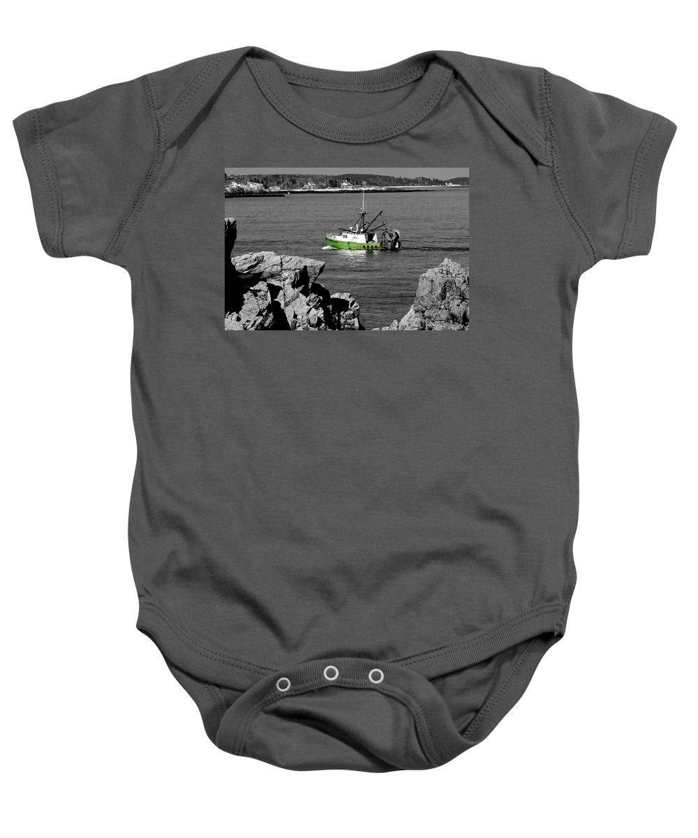 Coast Baby Onesie featuring the photograph Solitude by Greg Fortier