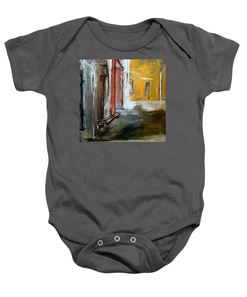 Easter Baby Onesie featuring the painting Solitude by Rome Matikonyte