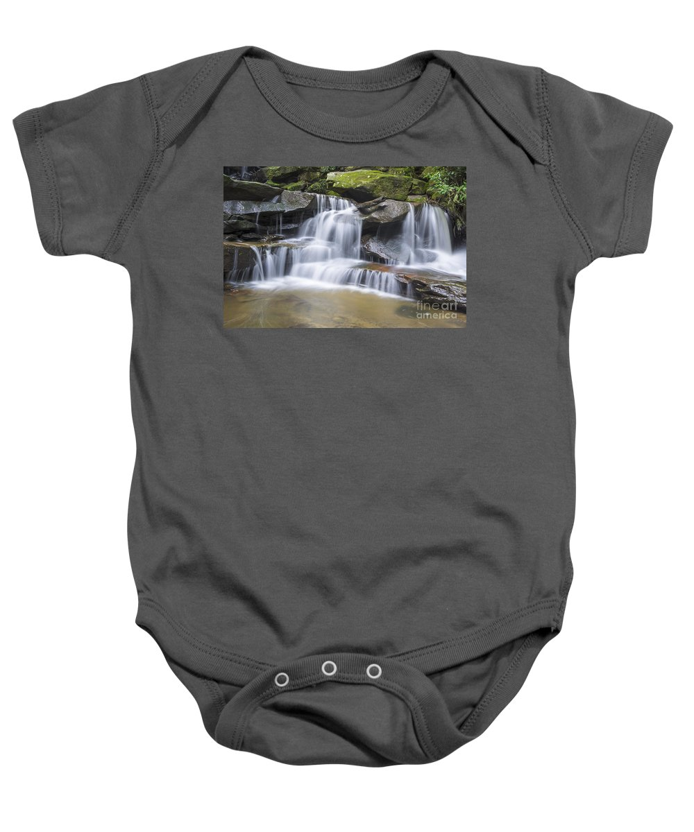 Australia Baby Onesie featuring the photograph Somersby Falls 1 by Paul Woodford
