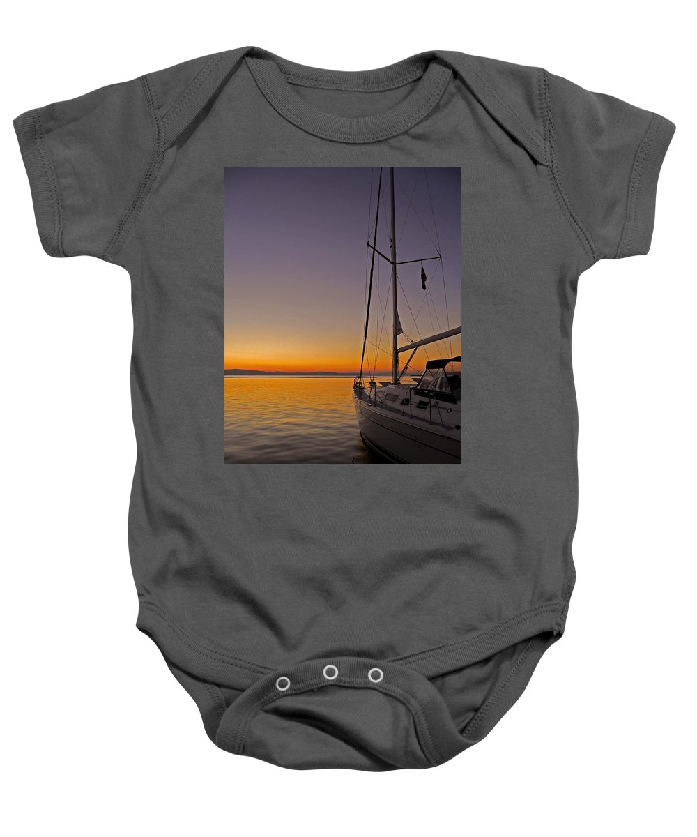 North America Baby Onesie featuring the photograph Somewhere Beyond The Sea ... by Juergen Weiss
